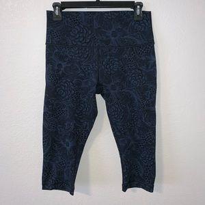 (Like New) Lululemon floral pattern leggings